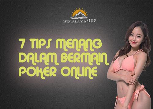 Tips Menang Bermain Poker