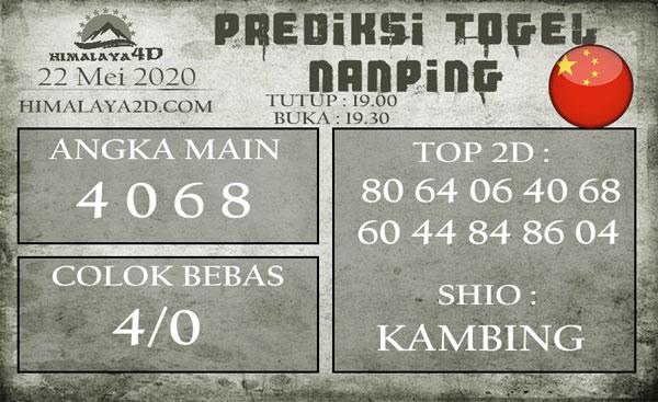 Prediksi Nanping 22 Mei 2020
