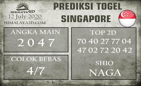 Prediksi SINGAPORE 12 July 2020